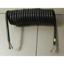 Przewód elektryczny spiralny 7-żyłowy bez wtyczek